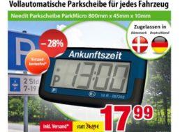Völkner: Automatische Parkscheibe mit Zulassung für 17,99 Euro frei Haus