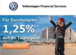 Tagesgeld: EZB senkt Leitzins auf 0 Prozent, VW-Bank bietet 1,25 Prozent