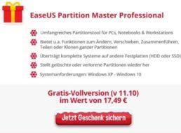 Gratis: Vollversion von Partitionstool und Passwortmanager zum Nulltarif