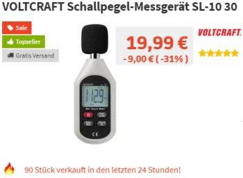 Völkner: Schallpegel-Messgerät SL-10 30 für 19,99 Euro frei Haus