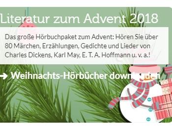 Gratis: Hunderte weihnachtliche Hörbücher bei Vorleser.net zum Nulltarif