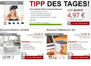 Druckerzubehoer.de: VR-Brille für 4,97 Euro plus Versand