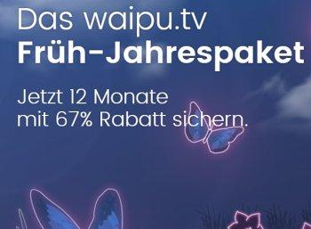 Waipu.tv: Zwölf Monate Streamingdienst mit Aufnahmefunktion zum Preis von vieren