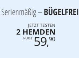 Walbusch: Doppelpack bügelfreie Hemden für 59,90 Euro plus Versand