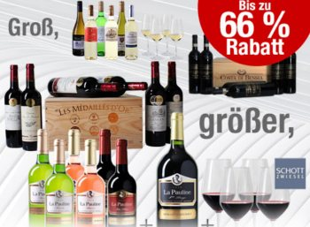 Weinvorteil: Roweinpakete in Holzkiste ab 35,99 Euro plus Versand