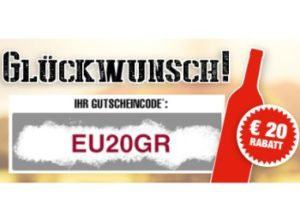 Weinversand: 20 Euro Rabatt ab 40 Euro Warenwert bis Samstag
