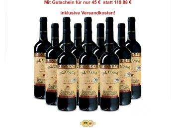 """Weinvorteil: 12 Flaschen prämierter """"Val Conde - Reserva"""" aus 2010 für 45 Euro"""
