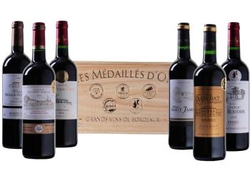 Weinvorteil: Goldprämierte Bordeaux-Kiste für 44,94 Euro frei Haus