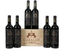 """Weinvorteil: 12 Jahre alter """"Caballo de Oro"""" in Holzkiste zum Schnäppchenpreis"""