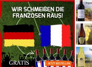 Weinvorteil: 6 Flaschen Frankreich-Weine gratis zu ausgewählten Paketen