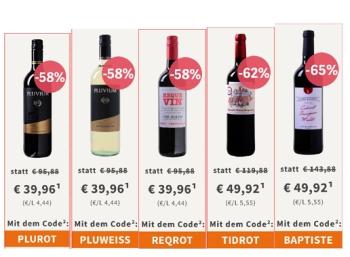 Weinvorteil: Drei Zwölferpakete Wein für je unter 40 Euro frei Haus