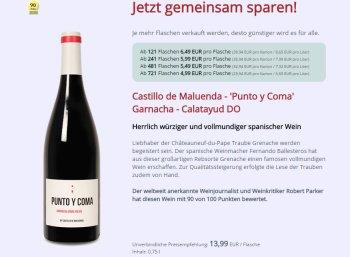 Parker-Paket: 'Punto y Coma' Garnacha für 4,99 Euro pro Flasche