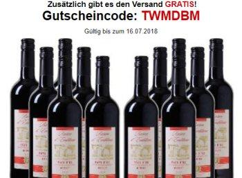 Weinvorteil: Zwölf Flaschen Merlot Baron d'Emblème für 45 Euro frei Haus