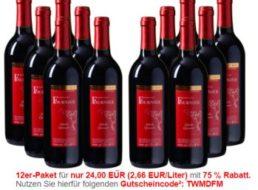 Weinvorteil: 12 Flaschen Merlot für 24 Euro plus Versand