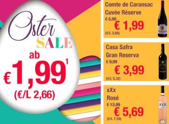 Weinvorteil: Ostersale mit Weinflaschen ab 1,99 Euro