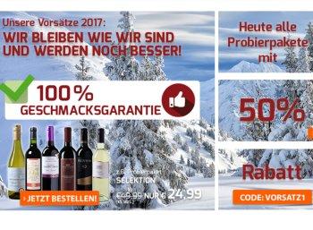 Weinvorteil: Probierpakete nur heute zum halben Preis