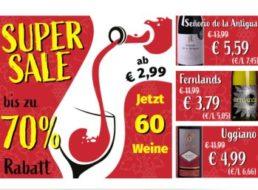 Weinvorteil: Super-Sale mit teils prämierten Flaschen ab 2,99 Euro