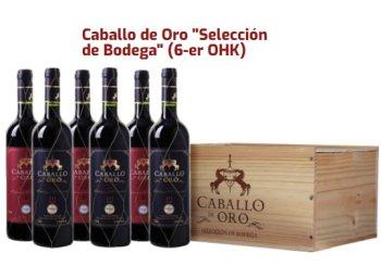 Weinvorteil: 6 x prämierter Caballo de Oro aus 2007-2010 Holzkiste für 41,94 Euro