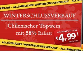 Weinvorteil: WSV mit Sechserpaketen ab 14,34 Euro frei Haus