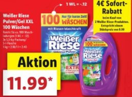 Lidl: Weißer Riese zum Discounterpreis beim Kauf von zwei Packs