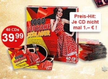 Weltbild: 40 Schlager-CDs für zusammen 39,99 Euro