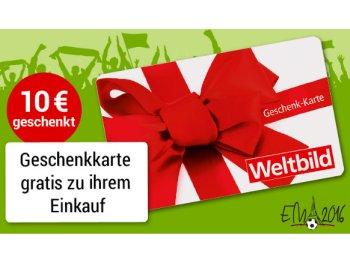Weltbild: Geschenkekarte über 10 Euro zum Einkauf ab 40 Euro gratis