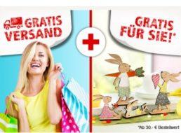 Weltbild: Gratis-Versand ohne Mindestbestellwert, Geschenk ab 30 Euro Warenwert