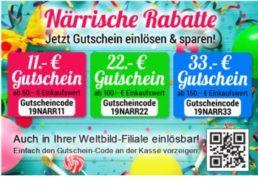 Weltbild: 11 bis 33 Euro Rabatt bis Montag abend