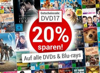 Weltbild: 20 Prozent Rabatt auf alle DVDs und Blu-rays