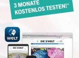 Welt Digital Komplett: Gratis-Zugang für drei Monate für Telekom-Kunden