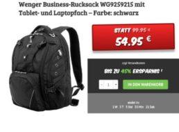 Dealclub: Business-Rucksack mit Notebook-Fach für 54,95 Euro frei Haus