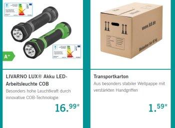 Lidl: Werkzeug-Spezial mit Arbeitshosen, Umzugskartons und Bohrersätzen