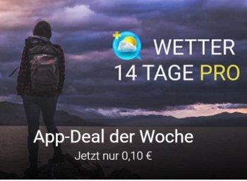 """Google Play: """"Wetter 14 Tage Pro"""" für zehn Cent"""