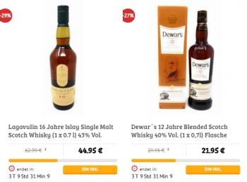 Dealclub: Spirituosen-Spezial mit Whiskey-Flaschen zu Schnäppchenpreisen