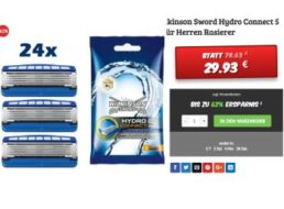 "Dealclub: 24 Rasierklingen ""Wilkinson Sword Hydro Connect 5"" für 29,93 Euro"