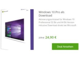 Windows 10 Pro: Download-Version bei Groupon für 24,90 Euro frei Haus