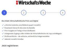 Gratis: Vier Wochen Wirtschaftswoche Print und Digital zum Nulltarif