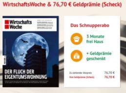 Wiwo: 13 Ausgaben für 76,70 Euro mit Scheck über 76,70 Euro