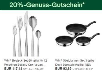 Ebay: 20 Prozent WMF-Rabatt, auch auf Silit und Kaiser