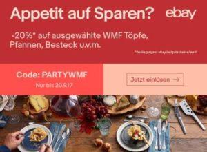 Ebay: WMF-Rabatt von 20 Prozent auf über 100 Aktionsprodukte