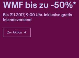Ebay: WMF-Sale mit Gratis-Versand und zehn Prozent Sonder-Rabatt