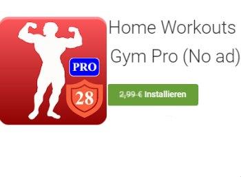 Gratis: Workout-App bei Google Play für kurze Zeit zum Nulltarif