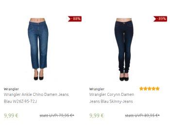 Wrangler: Damen-Jeans für 9,99 bis 17,99 Euro bei Outlet46