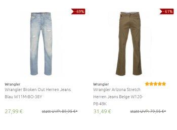 Wrangler: Sale bei Outlet46 mit Jeans ab 27,99 Euro frei Haus
