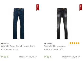 Wrangler: Jeans zu Preisen ab 9,46 Euro frei Haus via Outlet46