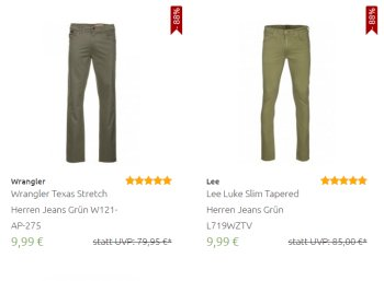 Outlet46: Über 100 Jeans zu Preisen ab 9,99 Euro frei Haus