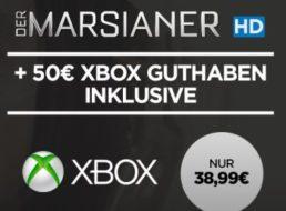 """XBOX: Guthaben über 50 Euro für 38,99 Euro inklusive """"Der Marsianer"""" in HD"""