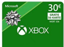 Xbox: Guthabenkarten im Wert von 35 Euro für 30 Euro