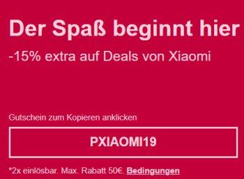 Ebay: Xiaomi-Artikel bis Freitag mit 15 Prozent Extra-Rabatt