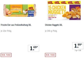 Lidl: XXL-Woche mit Großpackungen zu reduzierten Preisen ab 30. August